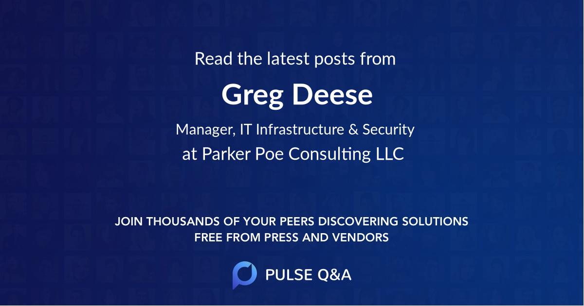 Greg Deese