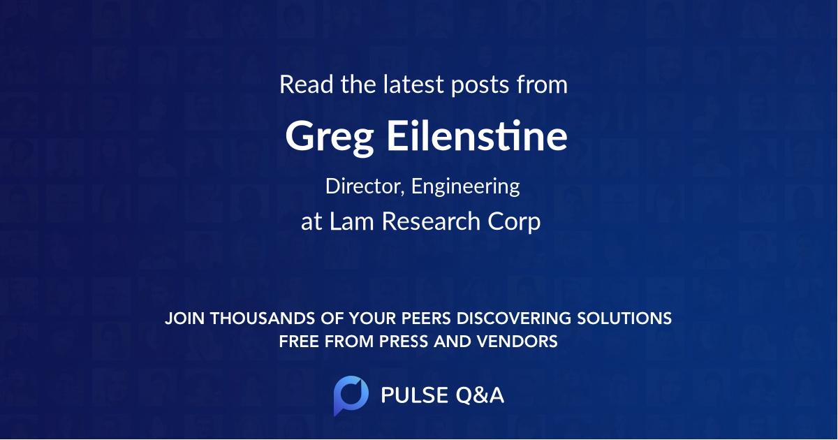Greg Eilenstine