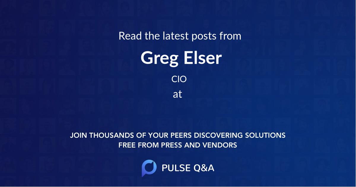 Greg Elser