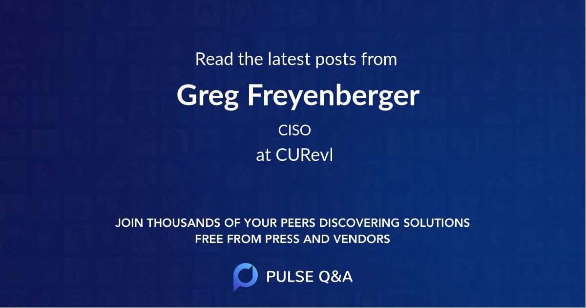 Greg Freyenberger