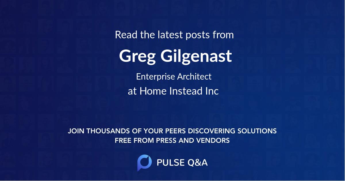 Greg Gilgenast