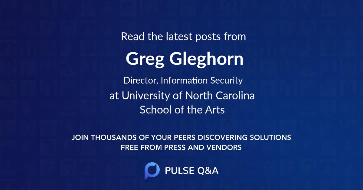 Greg Gleghorn