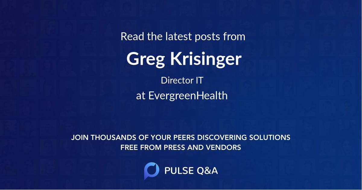 Greg Krisinger