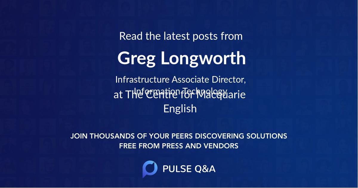 Greg Longworth