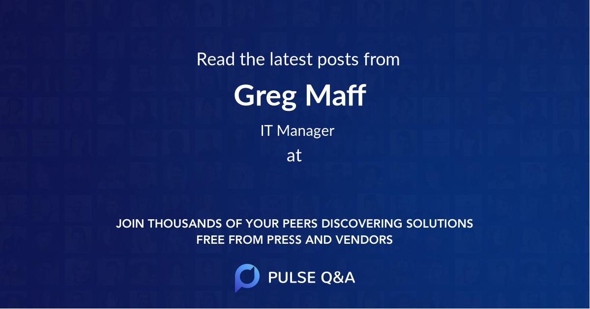 Greg Maff