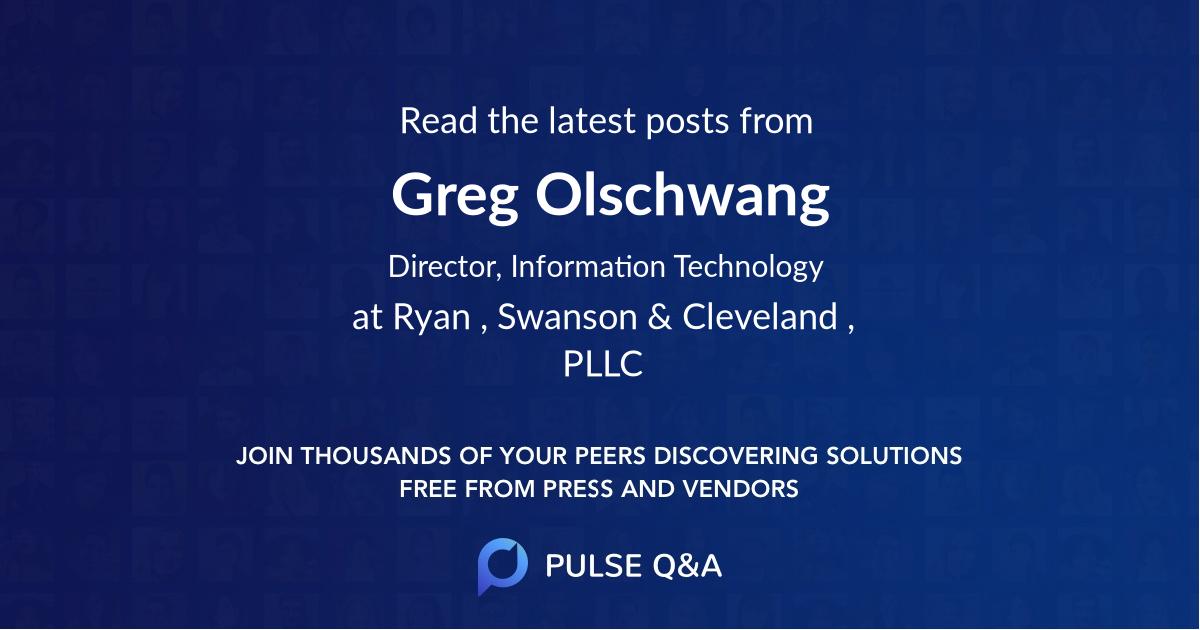 Greg Olschwang