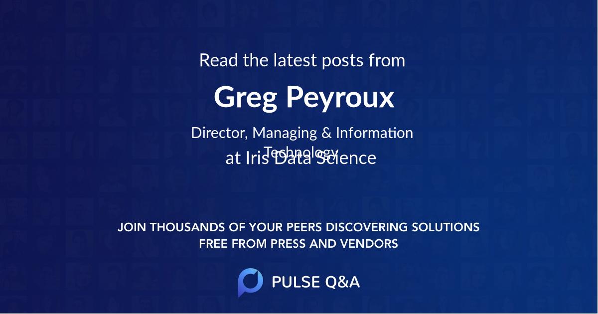 Greg Peyroux
