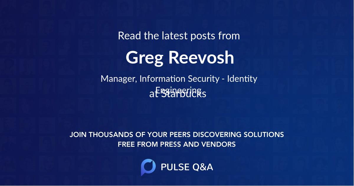 Greg Reevosh