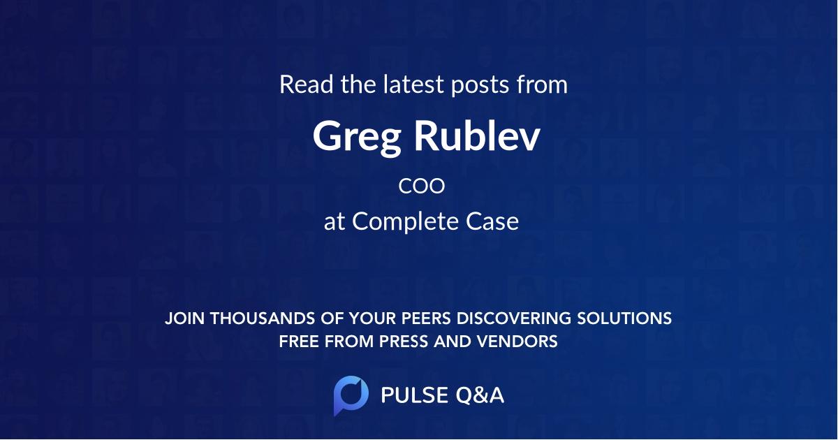 Greg Rublev