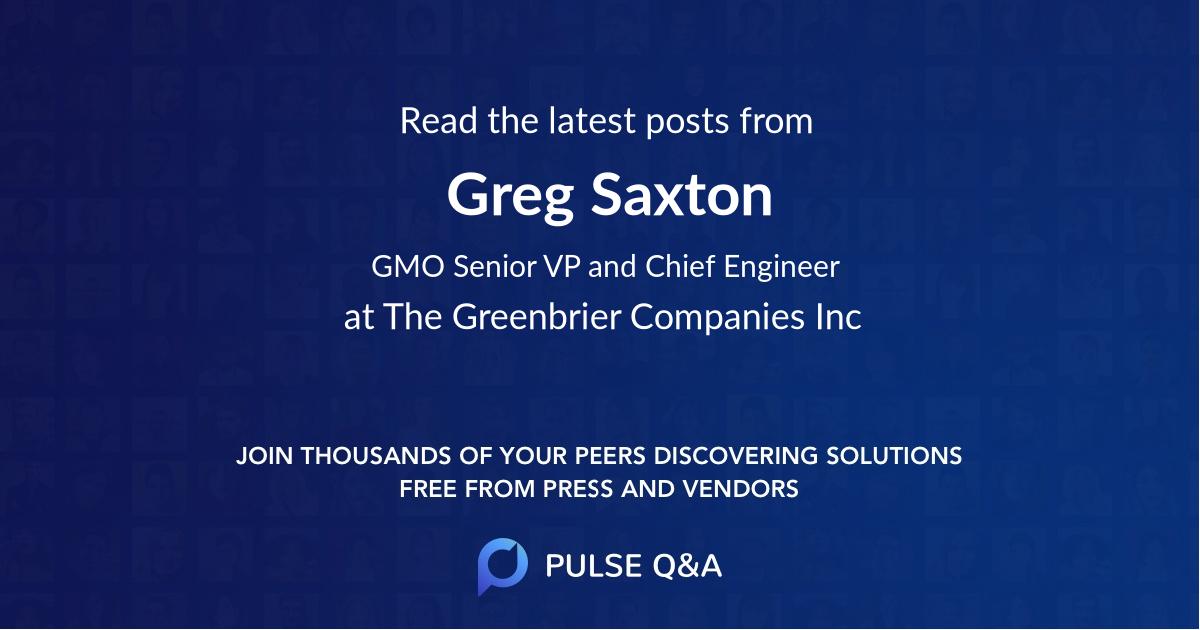 Greg Saxton