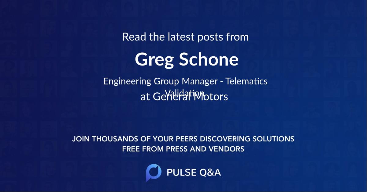 Greg Schone