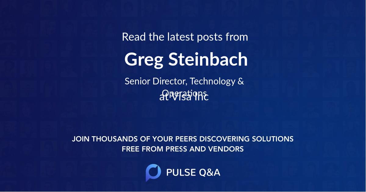 Greg Steinbach