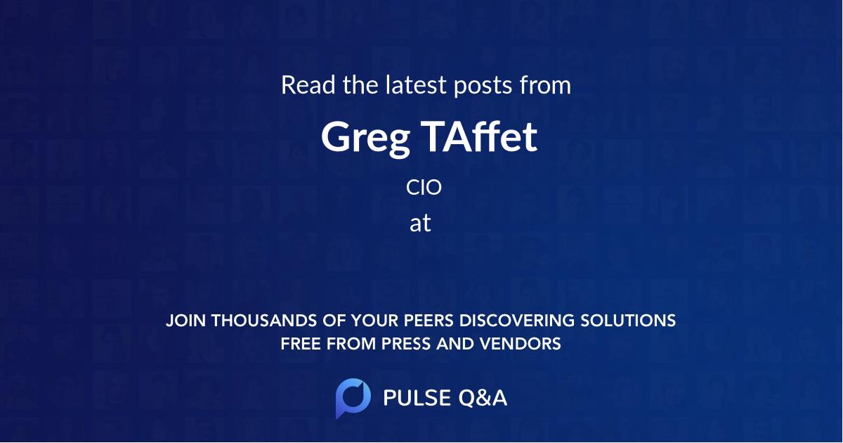 Greg TAffet