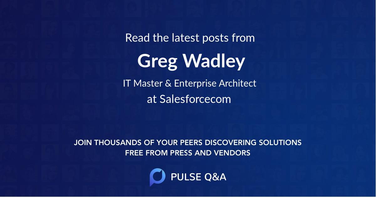 Greg Wadley