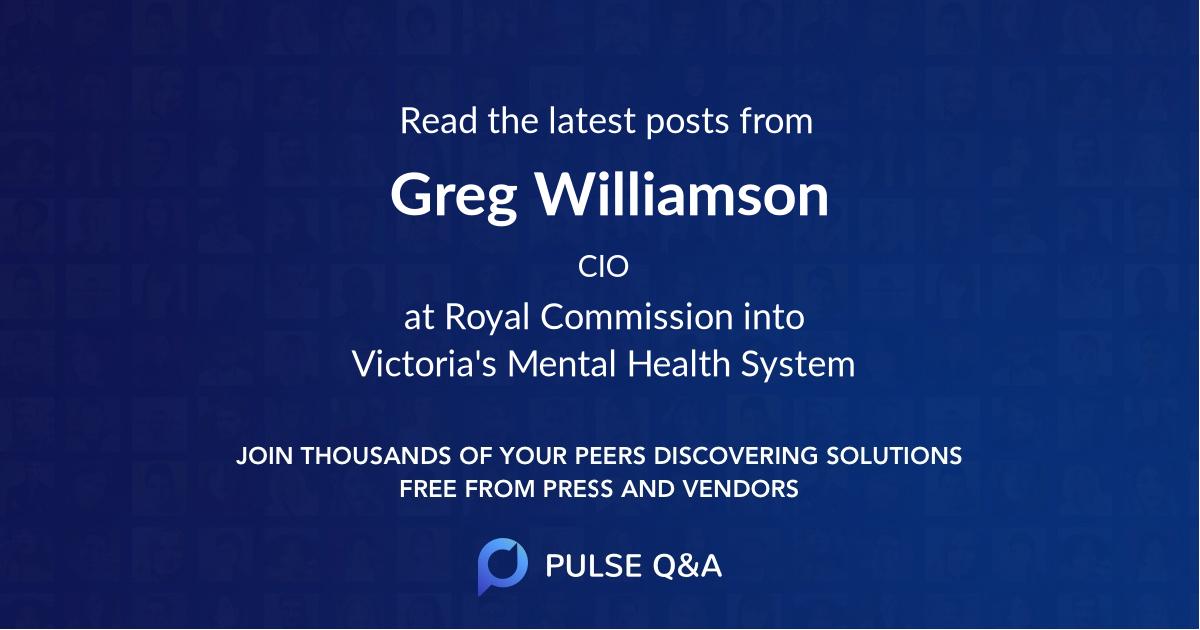 Greg Williamson