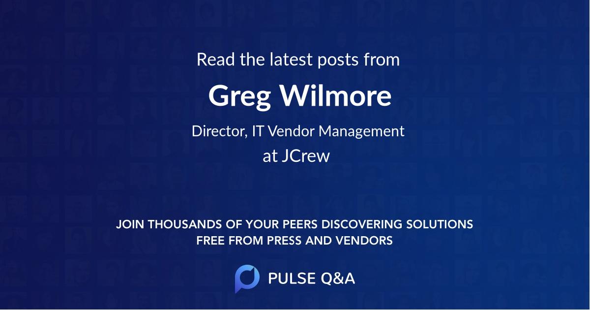 Greg Wilmore