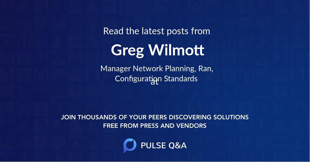 Greg Wilmott