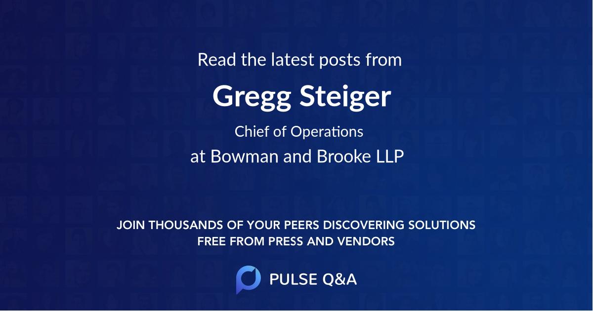 Gregg Steiger