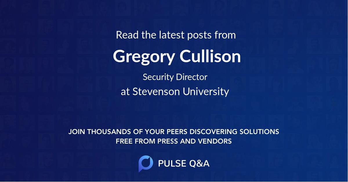 Gregory Cullison