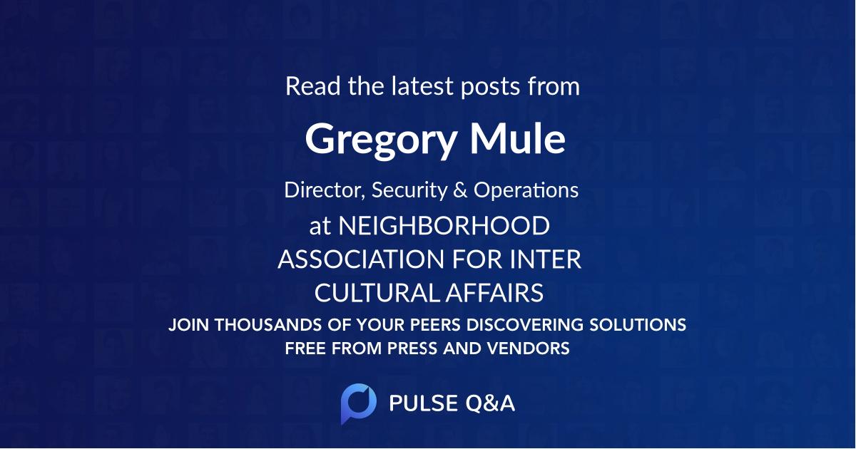 Gregory Mule