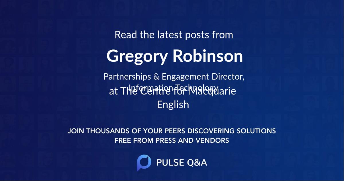 Gregory Robinson