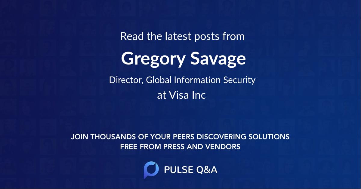 Gregory Savage
