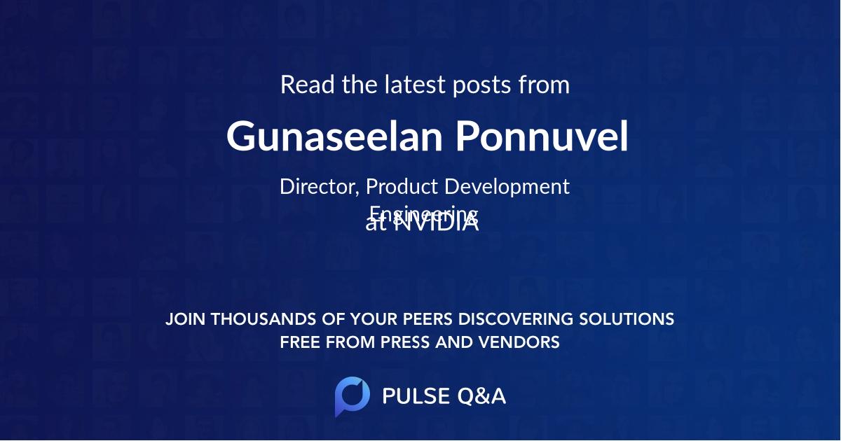 Gunaseelan Ponnuvel