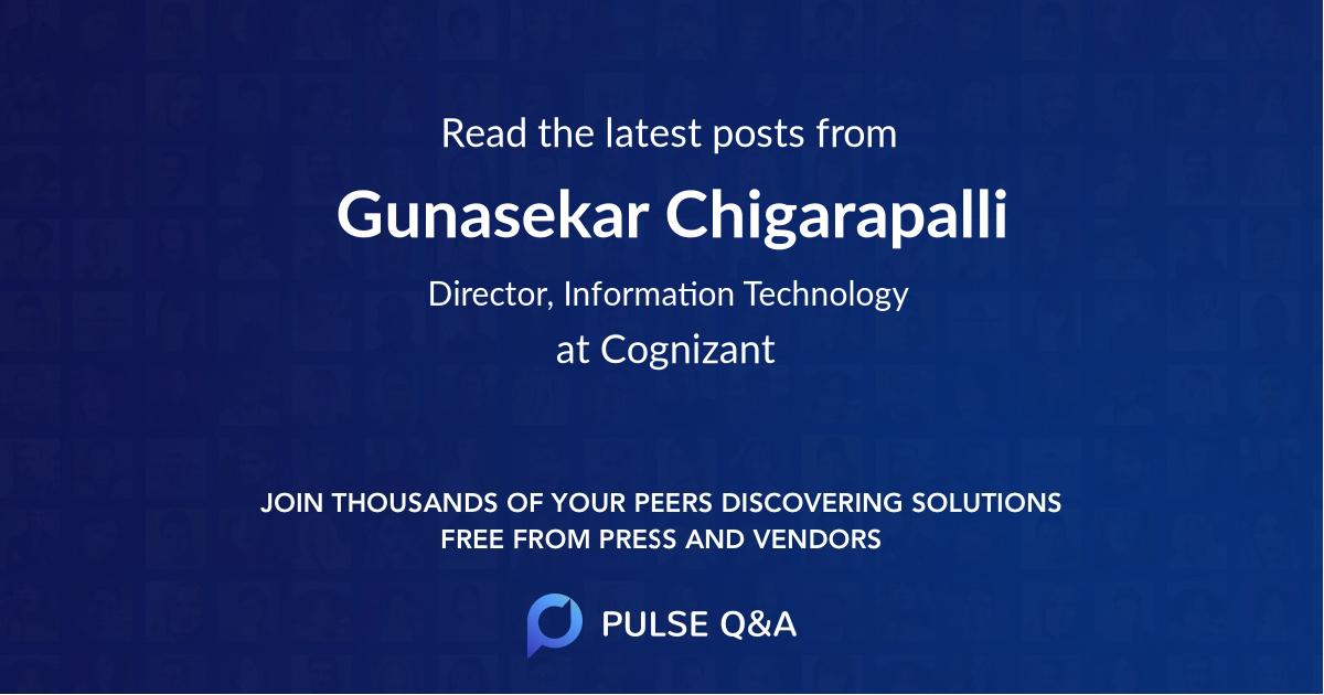 Gunasekar Chigarapalli