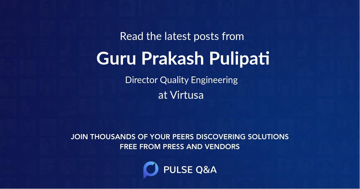 Guru Prakash Pulipati