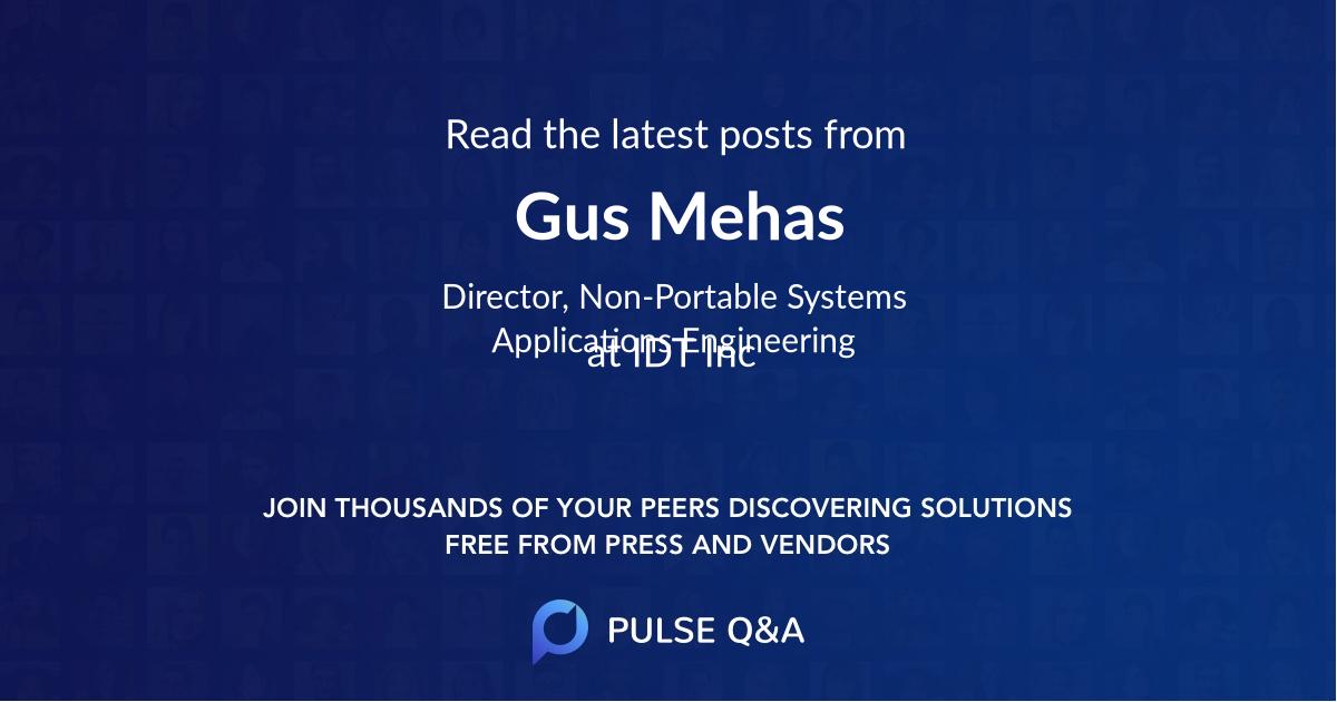Gus Mehas