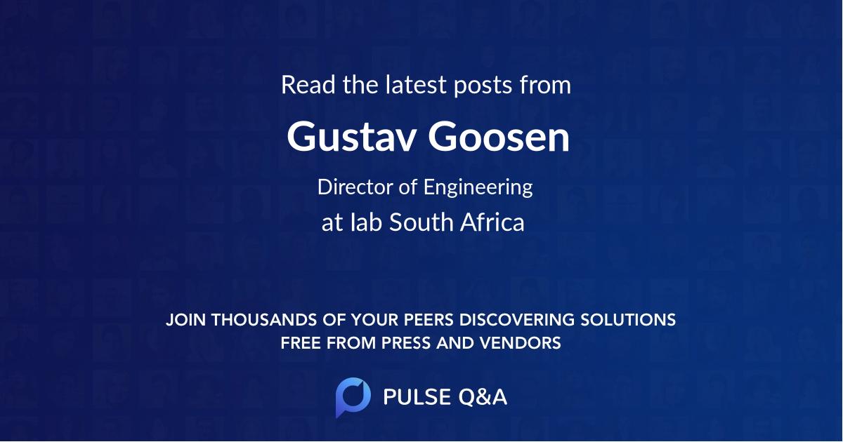 Gustav Goosen