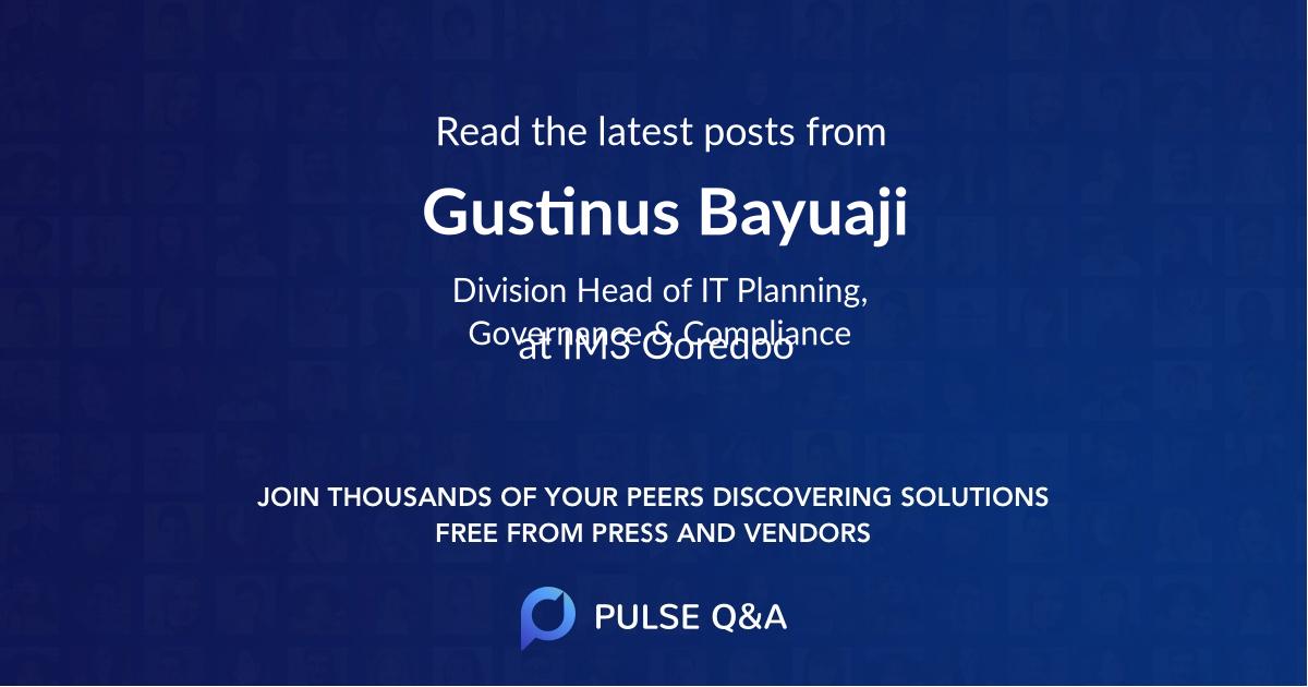 Gustinus Bayuaji