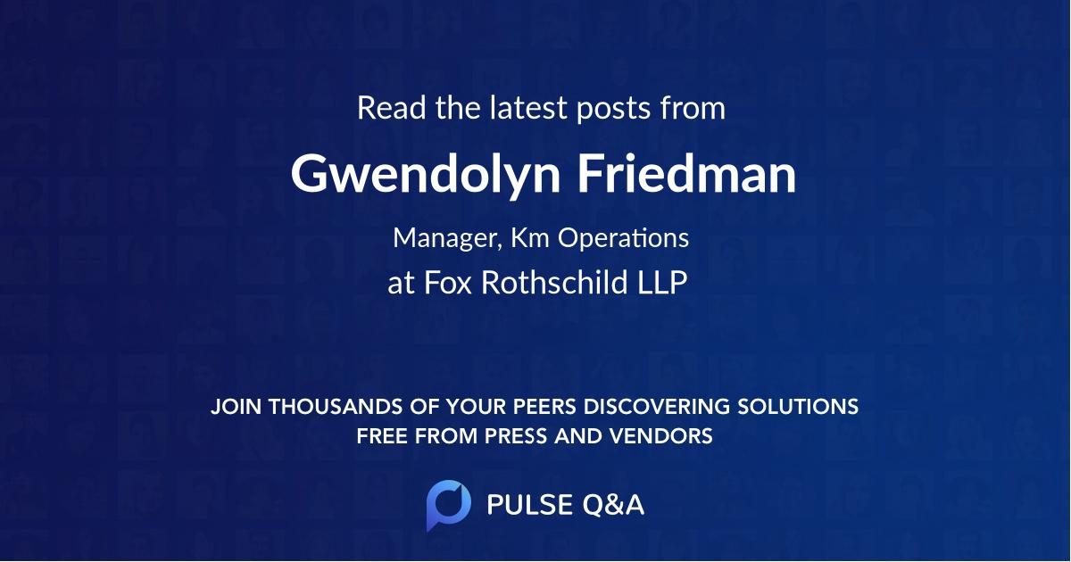 Gwendolyn Friedman