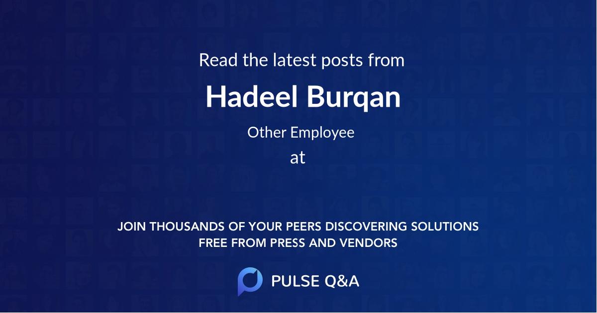 Hadeel Burqan