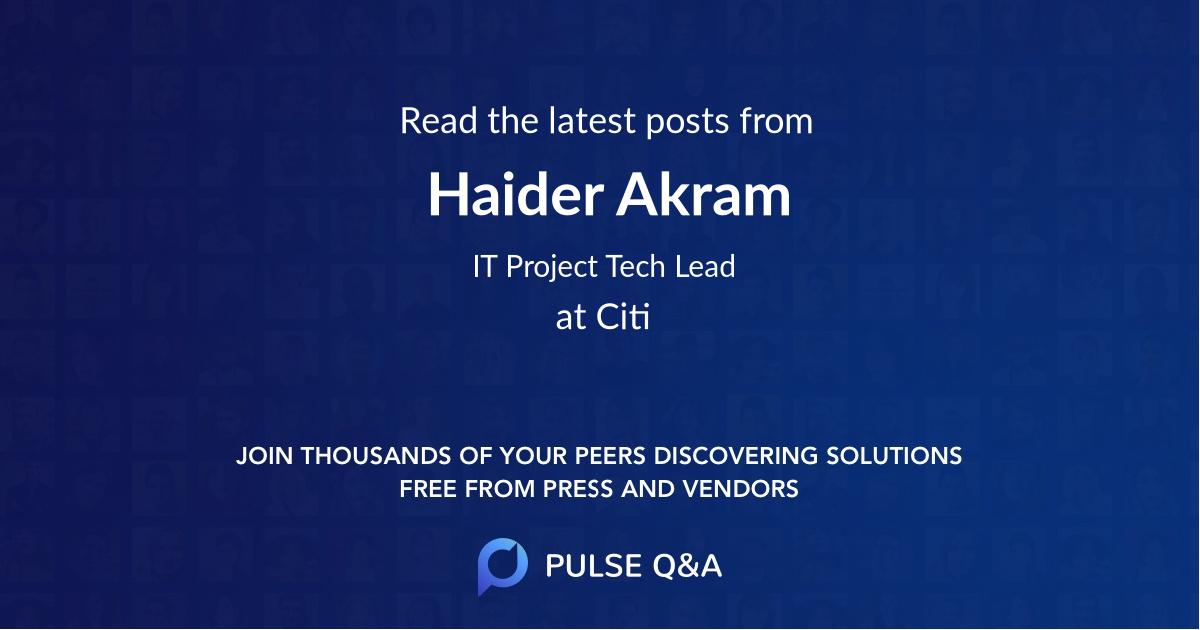 Haider Akram