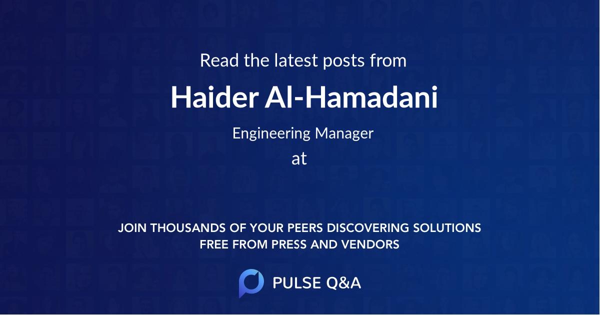Haider Al-Hamadani