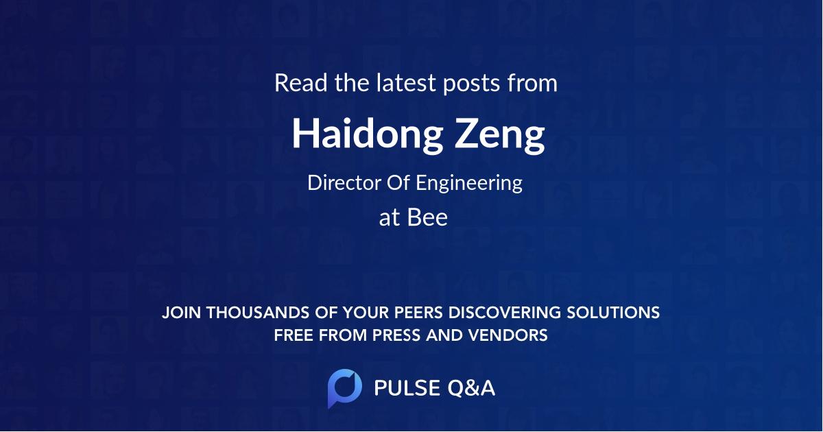 Haidong Zeng