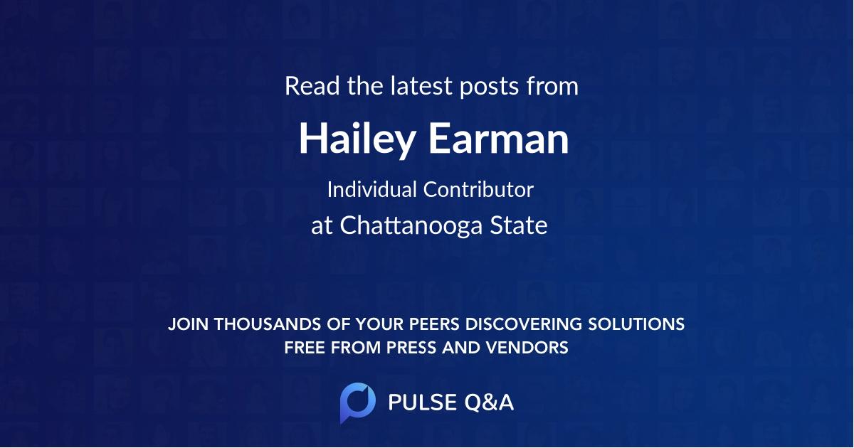 Hailey Earman