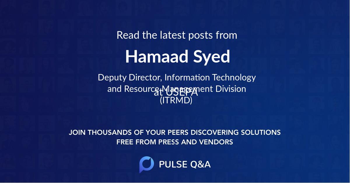 Hamaad Syed