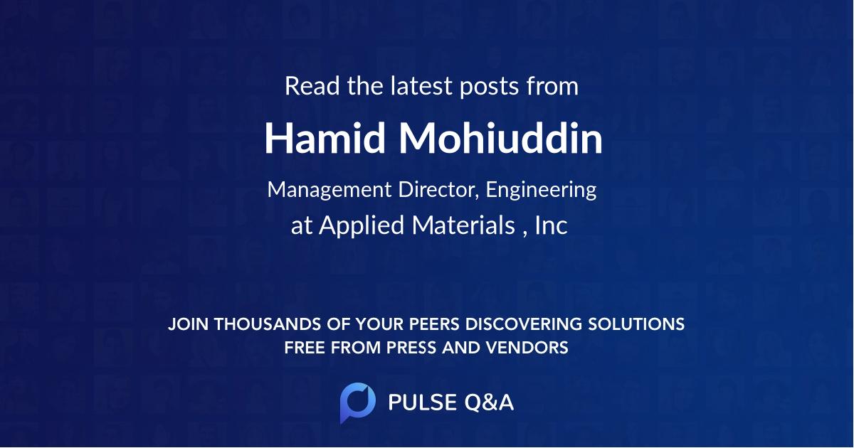 Hamid Mohiuddin