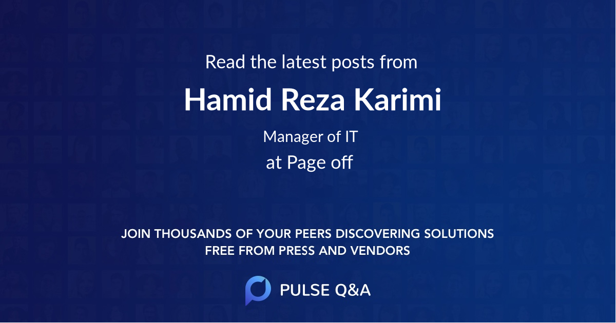 Hamid Reza Karimi