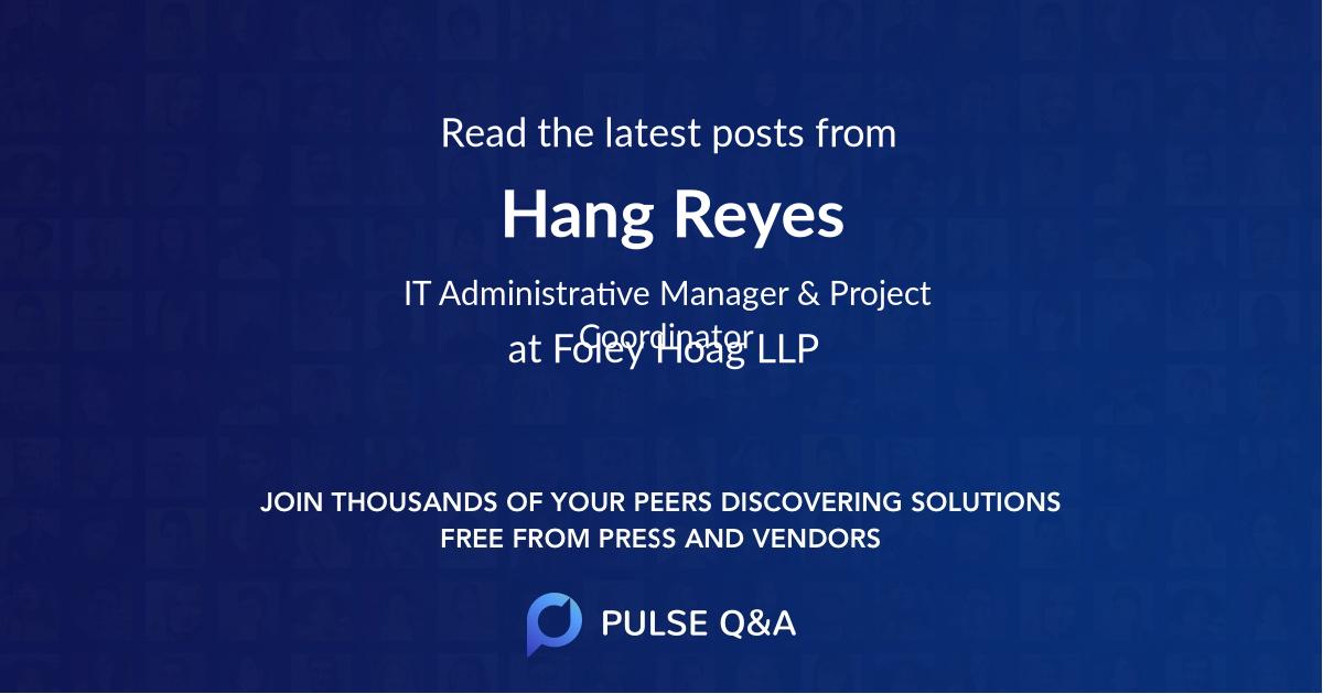 Hang Reyes