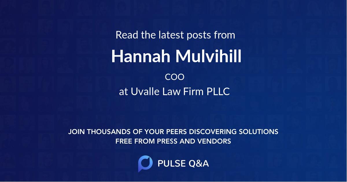Hannah Mulvihill