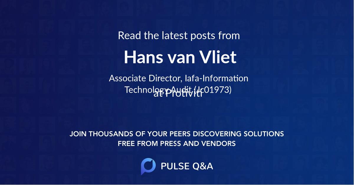 Hans van Vliet