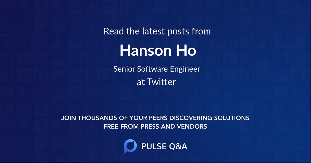 Hanson Ho
