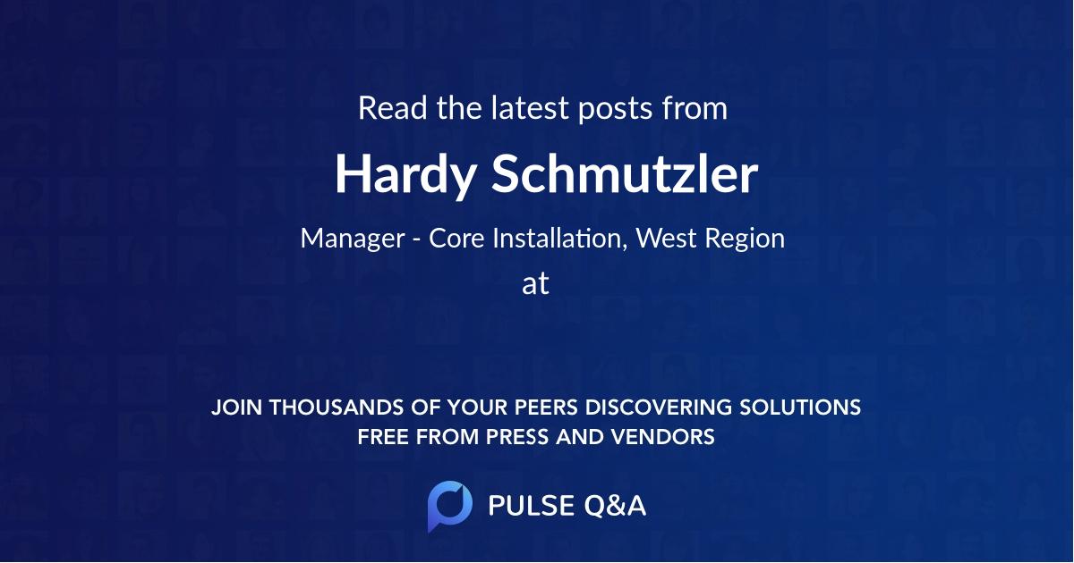 Hardy Schmutzler