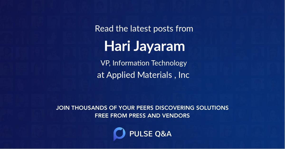 Hari Jayaram