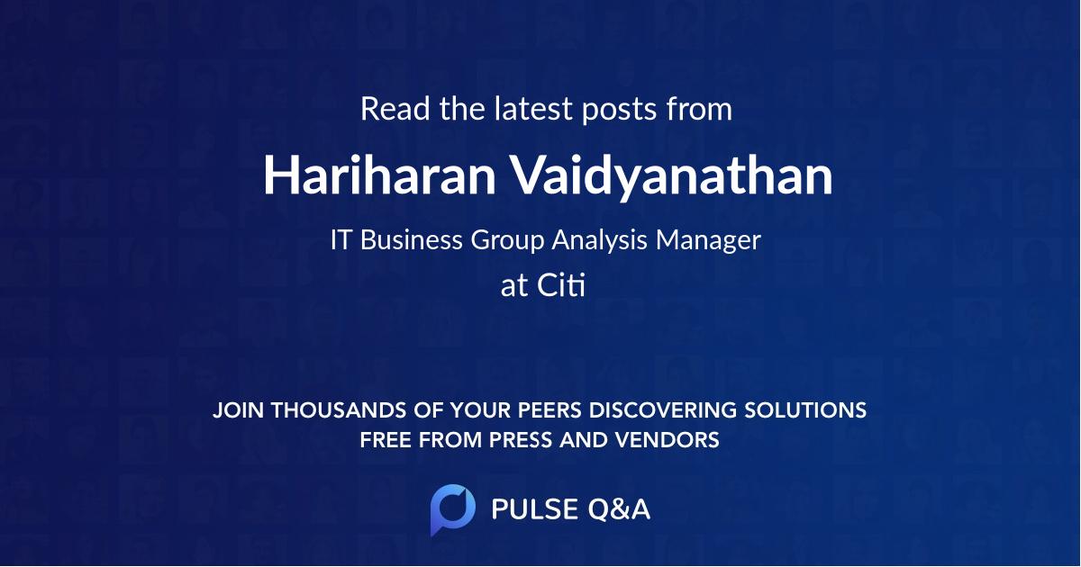 Hariharan Vaidyanathan
