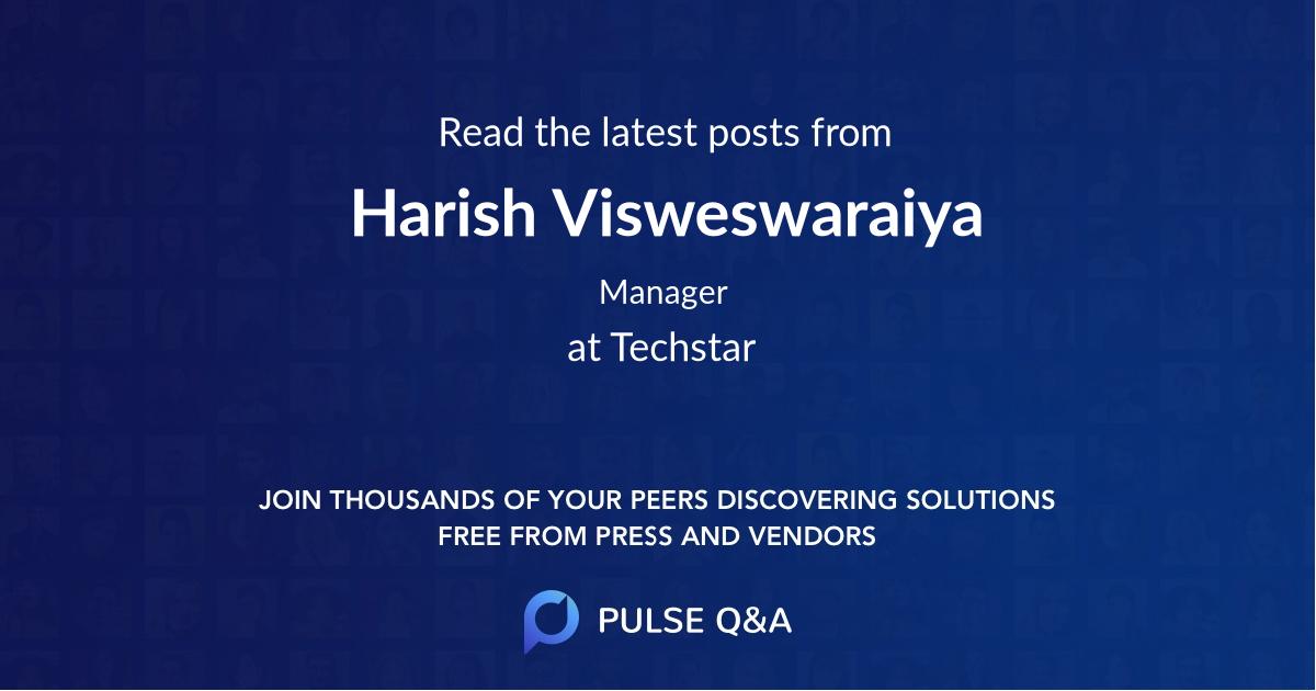 Harish Visweswaraiya