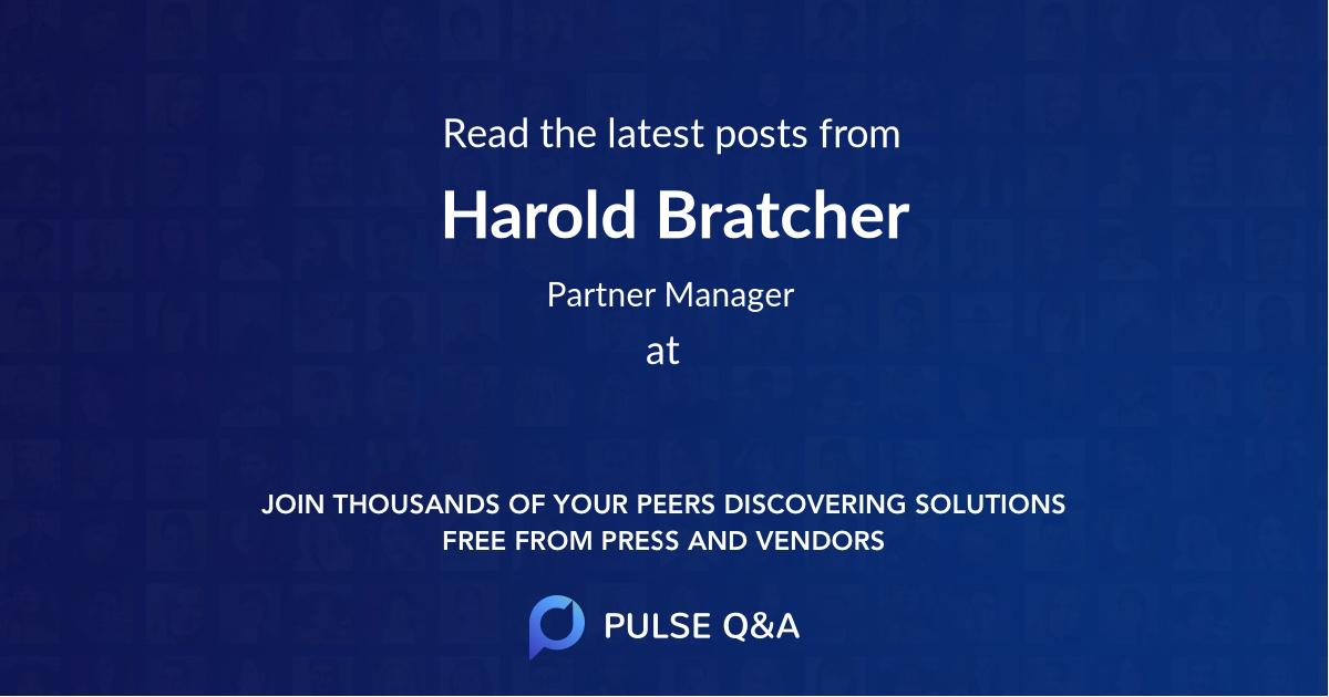 Harold Bratcher